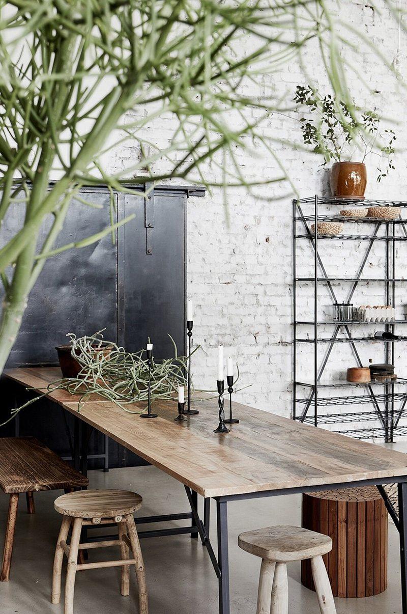 Loft stile industriale arredamento di stile nordico-scandinavo