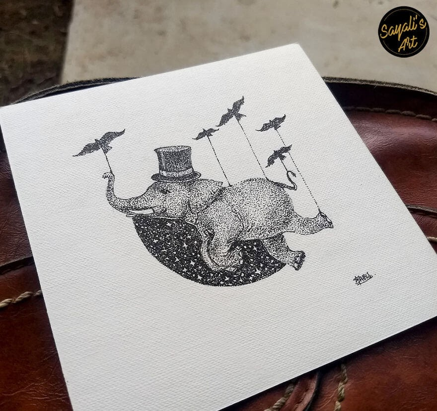 02-Everything-Is-Possible-Sayali-Horambe-Stippling-Dots-and-Creating-Drawings-www-designstack-co