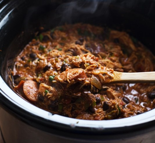 Slow Cooker Creole Chicken and Sausage #dinner #crockpot