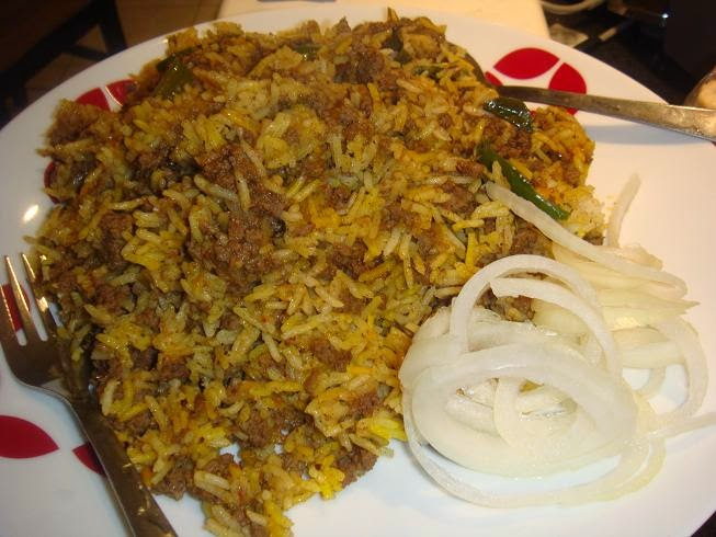 Homemade Yummy  Keema Pulao Recipe