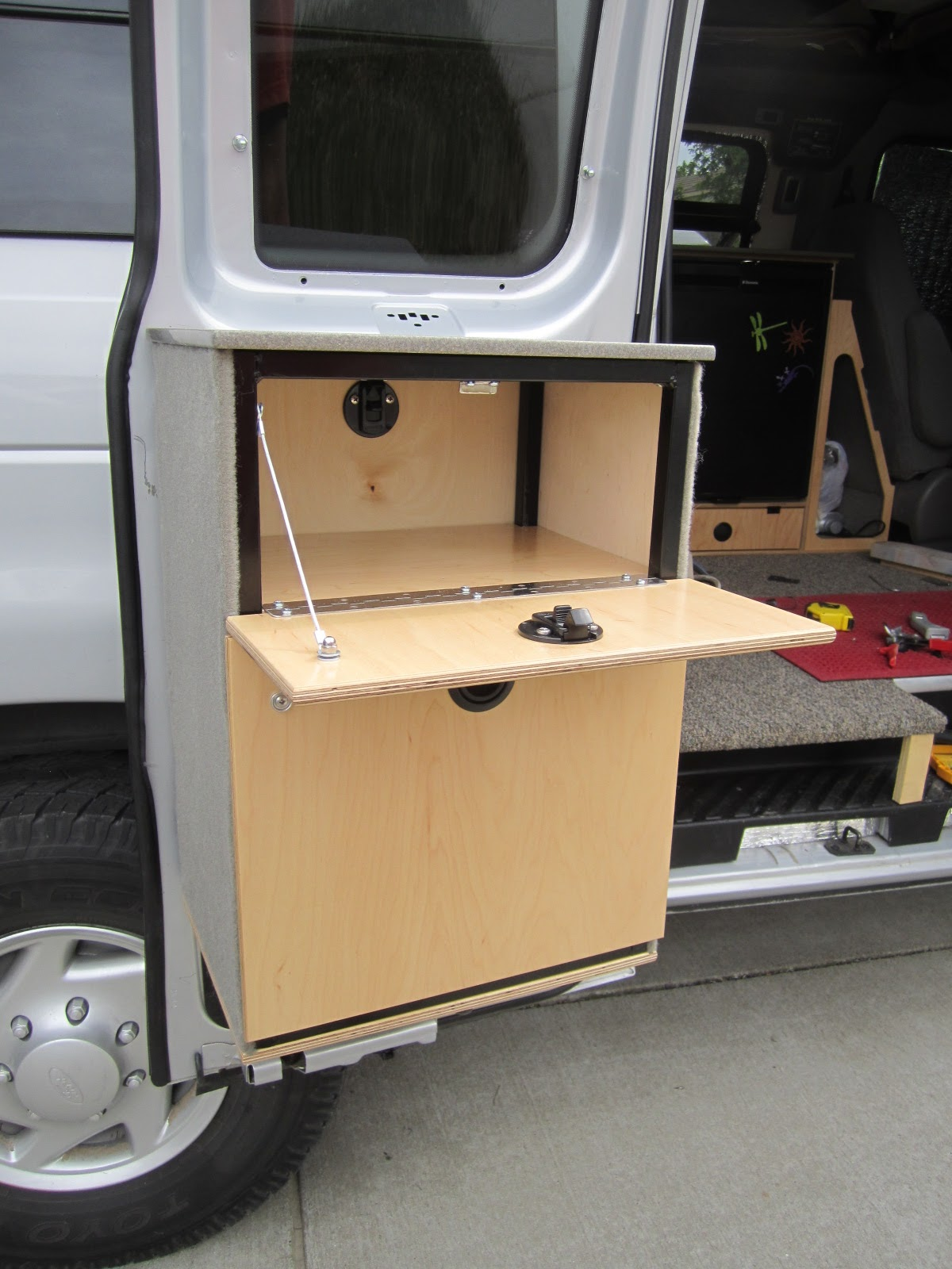 Van Go Galley Cabinet Finishing Touches Bike Rack And