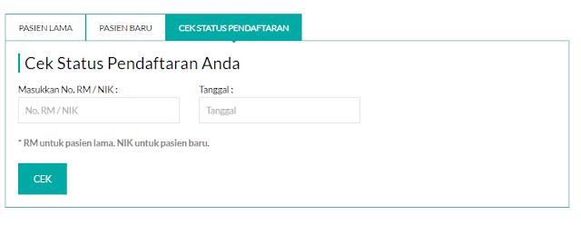 Pendaftaran berobat online rsud tangsel