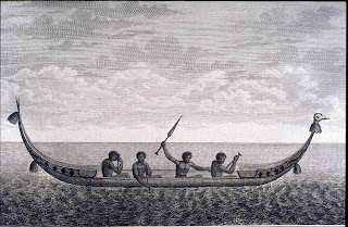 "Solomon Islands ""lisi"" canoe from Labillardiere (1800)"