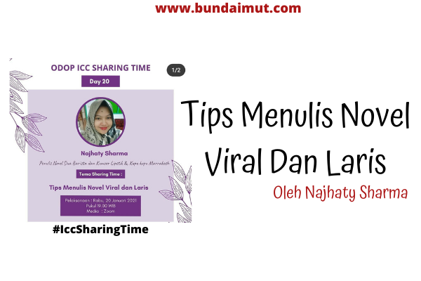 Tips menulis novel viral dan laris manis