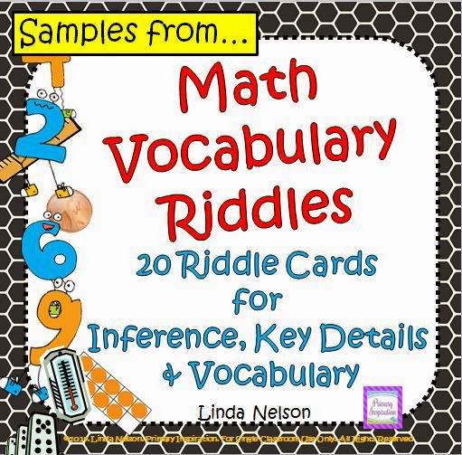 http://primaryinspiration.blogspot.com/2014/11/math-riddles-freebie.html