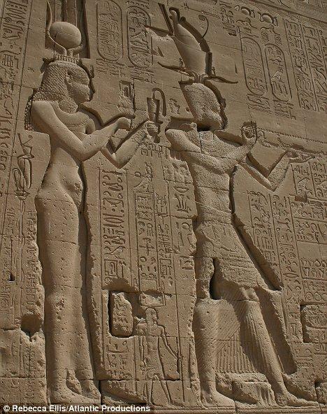 Cleopatra in ancient hieroglyph