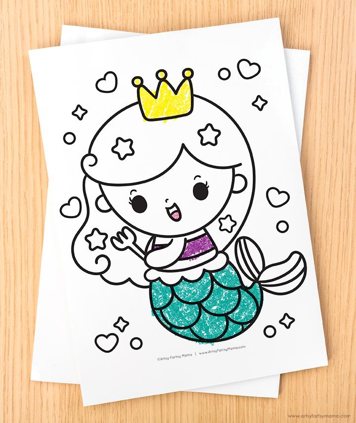 Free Printable Mermaid Coloring Pages