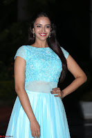 Pujita Ponnada in transparent sky blue dress at Darshakudu pre release ~  Exclusive Celebrities Galleries 097.JPG