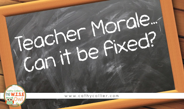 Teacher morale is on the decline, but can we allow it to be blamed on someone else? Find your inspiration for staying in this career, because it matters.