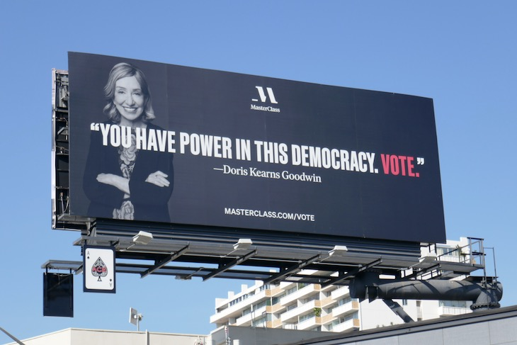 You have power in democracy Vote MasterClass billboard