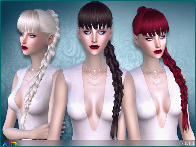 Женские прически с косами для The Sims 4 со ссылками на скачивание