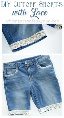 How to Make Cutoff Shorts Collage