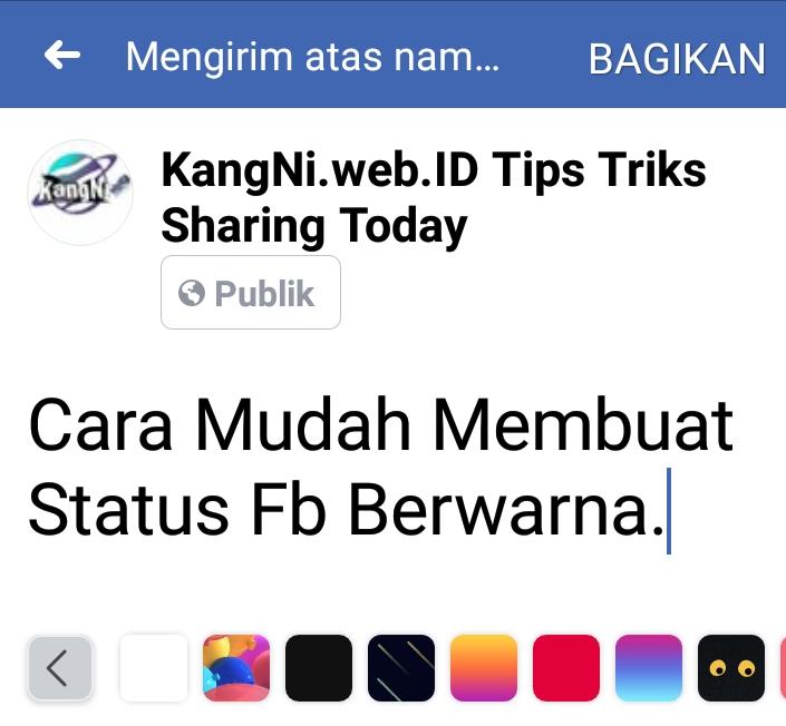 Cara Mudah Membuat Status Fb Berwarna