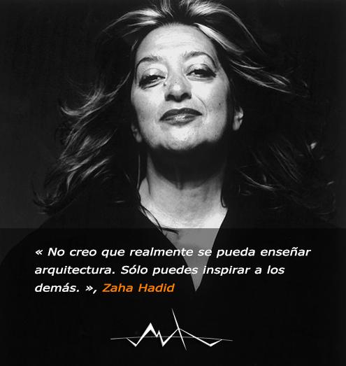 Fotografía de Zaha Hadid (1950-2016), arquitecta y diseñadora, fundadora de la prestigiosa firma de Arquitectura Zaha Hadid Architects