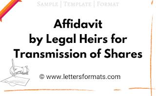 affidavit by legal heirs for transmission of shares