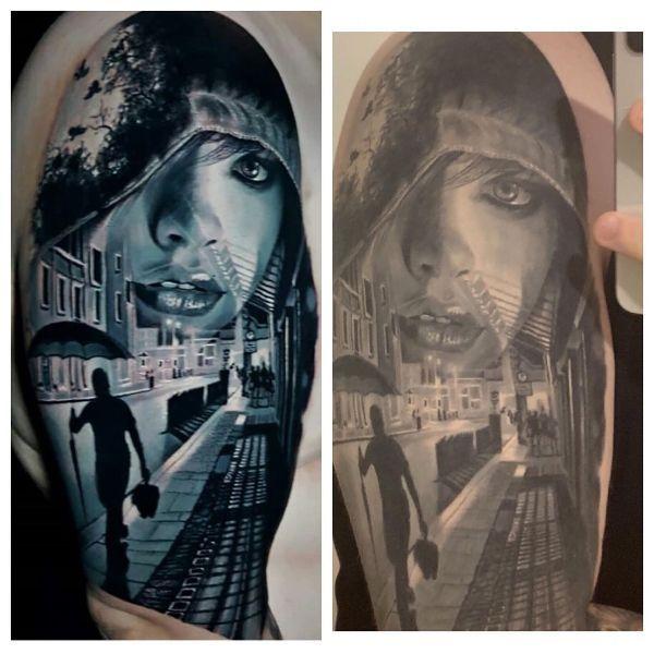 tatuajes con photoshop y sin potoshop