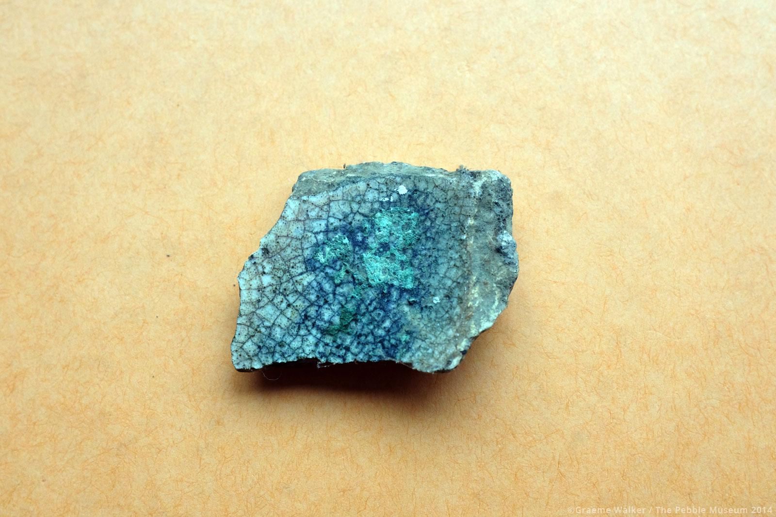Cracked Blue Ceramic © Graeme Walker / The Pebble Museum 2019