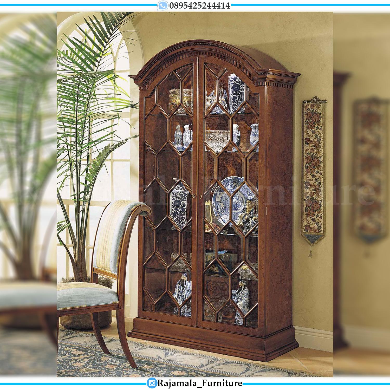 New Lemari Hias Jati Mewah Luxury Carving Classic Jepara RM-0036