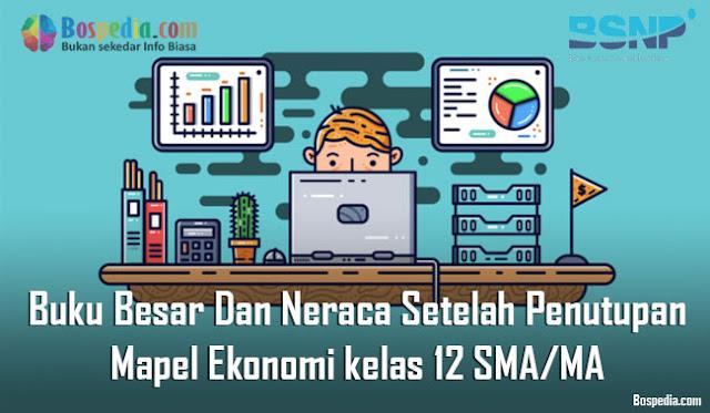 Materi Buku Besar Dan Neraca Setelah Penutupan Mapel Ekonomi kelas 12 SMA/MA