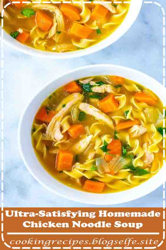 4.9 ★★★★★ | The Best Homemade Chicken #Noodle #Soup Recipe, Every time I start to think about this soup, I want to make it. Classic chicken noodle soup is pure comfort food. Thankfully, our recipe is so easy, you can even make it tonight! #best #chicken #soup recipes #homemade