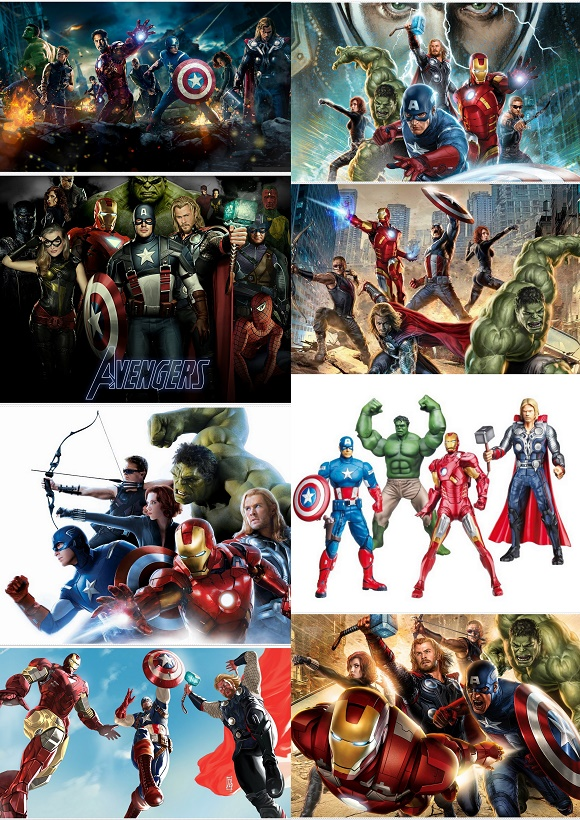 avengers free printable cards or