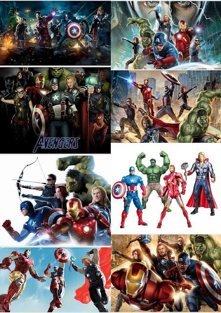 Los Vengadores: Invitaciones o Tarjetas para Imprimir Gratis.