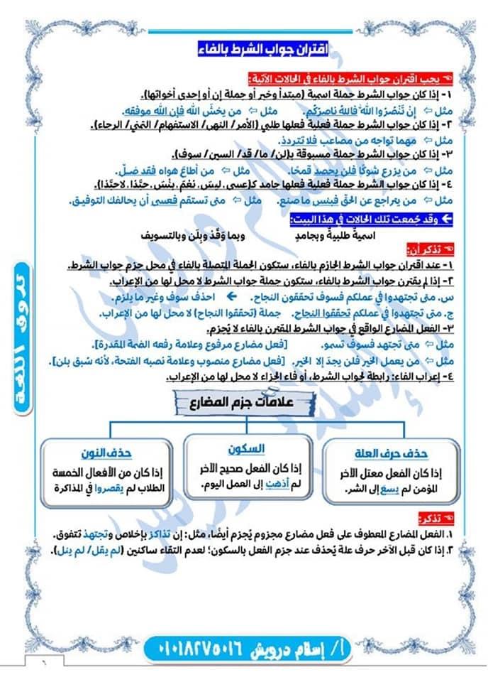 ملخص نحو الصف الثانى الثانوى نظام جديد 2020 أ/ اسلام درويش 6