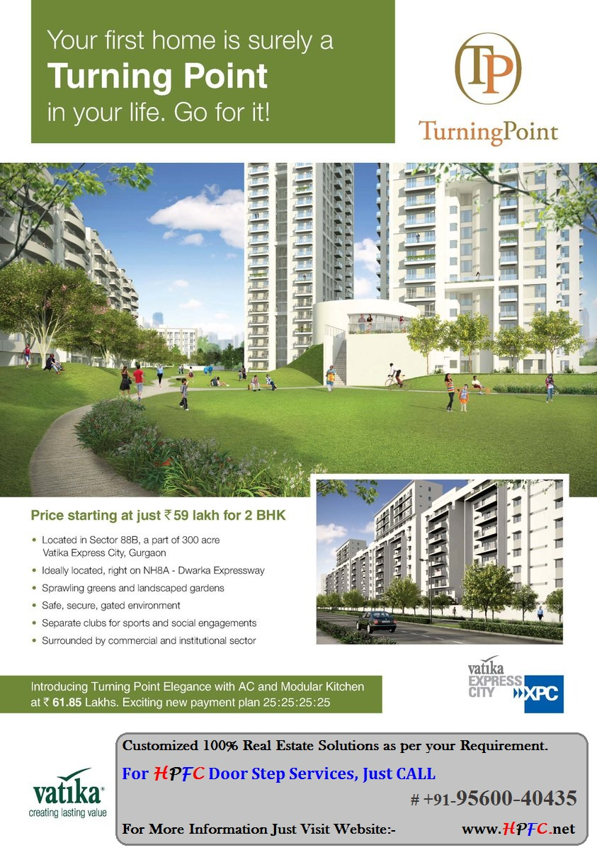 New Launch Project Vatika Turning Point Apartments in Vatika Express City, Sector-88B, Gurgaon
