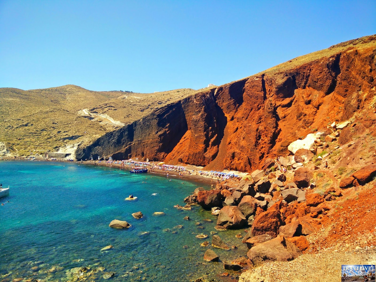 Grèce Santorini Santorin Plage Rouge