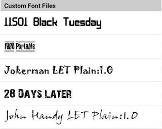Custom Font Pack Picsay Pro