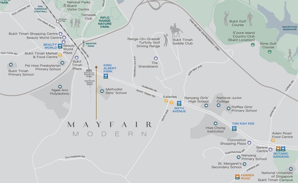 Mayfair Modern Location Map