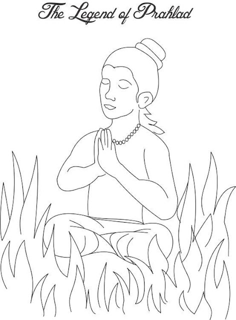 Holi Colouring Page Greeting