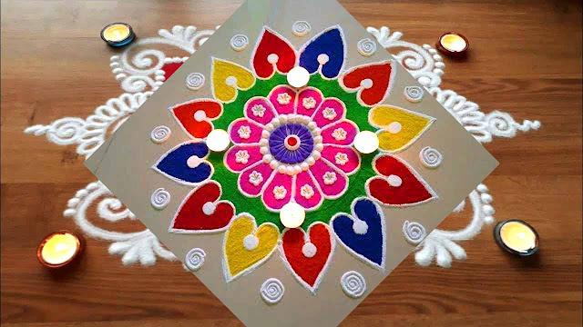 Diwali Rangoli Designs Easy