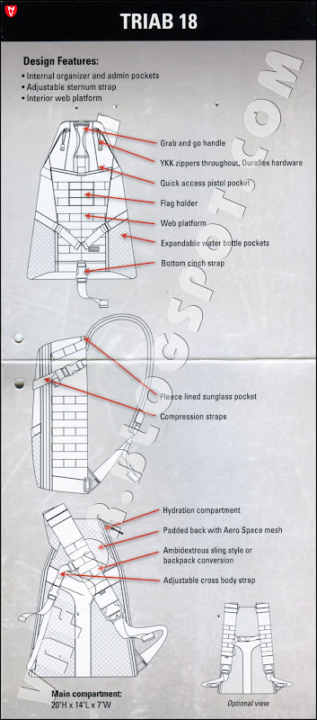 Рюкзак 5.11 Tactical TRIAB18, схема отделений