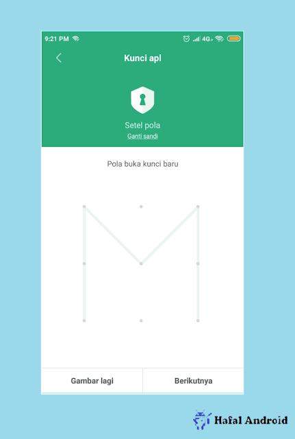 Gambar Pola Untuk Model Penguncian Aplikasi di Xiaomi
