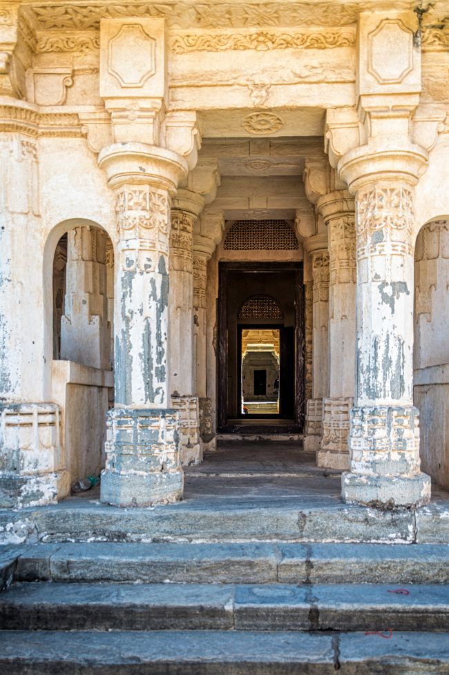 Pillars at Vedi Mandir