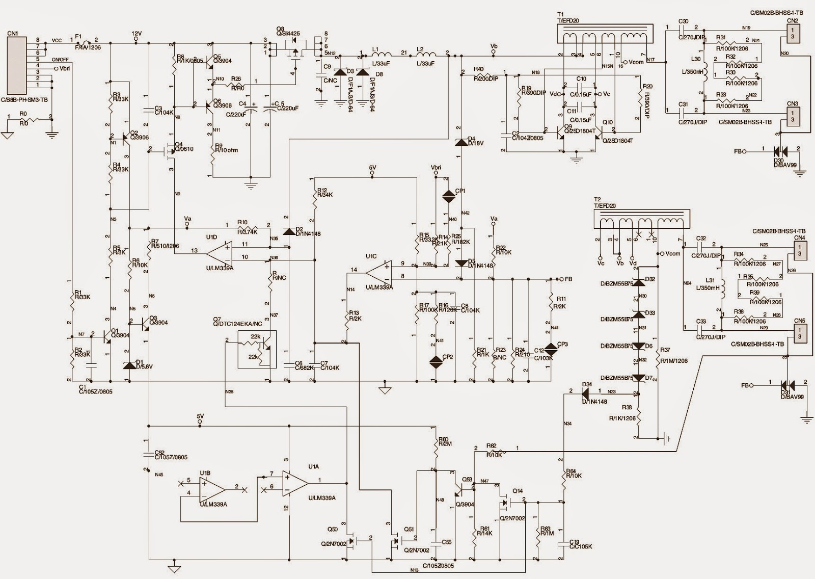 Remarkable Lcd Tv Back Light Inverter Board Schematics Circuit Diagrams Wiring Cloud Hisonuggs Outletorg