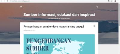 blog sumber informasi, edukasi, dan inspirasi