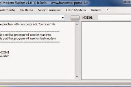 Download Huawei Modem Flasher v1.6 (c) fr3nsis