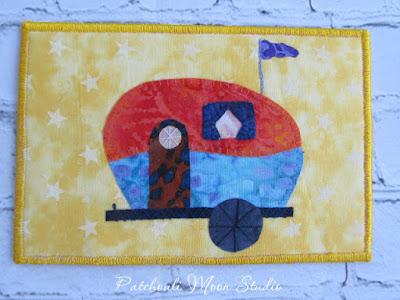 camper on a postcard by patchouli moon studio