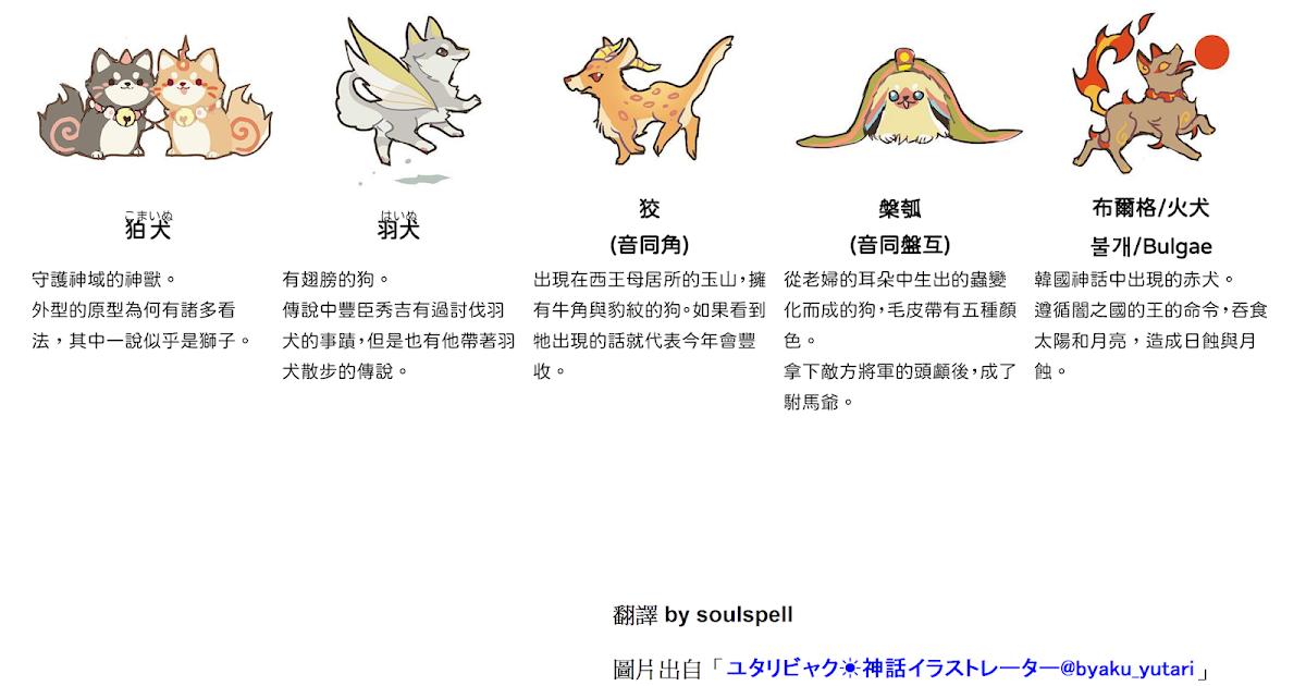 胡思閣: 世界各地神話傳說中出現的神奇狗狗們(1) Mythological dogs(1)