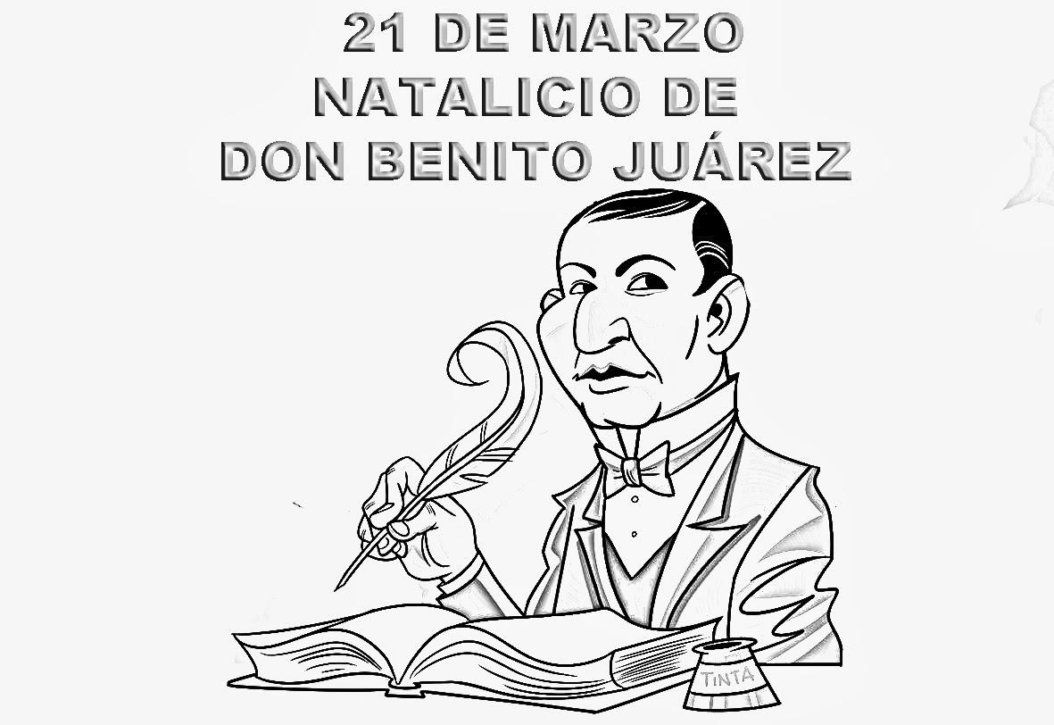 Dibujos Para Colorear De Benito Juárez