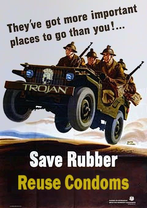 Reuse Condoms world war II poster worldwartwo.filminspector.com