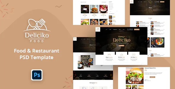 Best Restaurant PSD Template