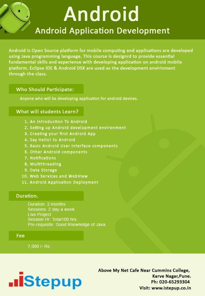 Android Application Development Training | Android Development Training