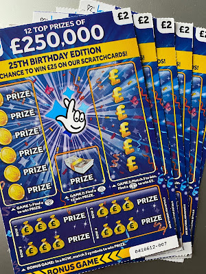 £2 £250,000 25th Anniversary Special Scratchcard From 2019