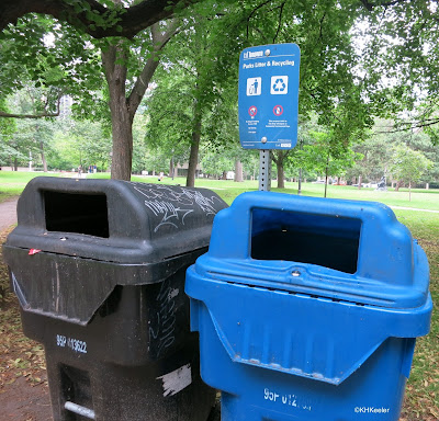 recycling, park in Toronto, Canada