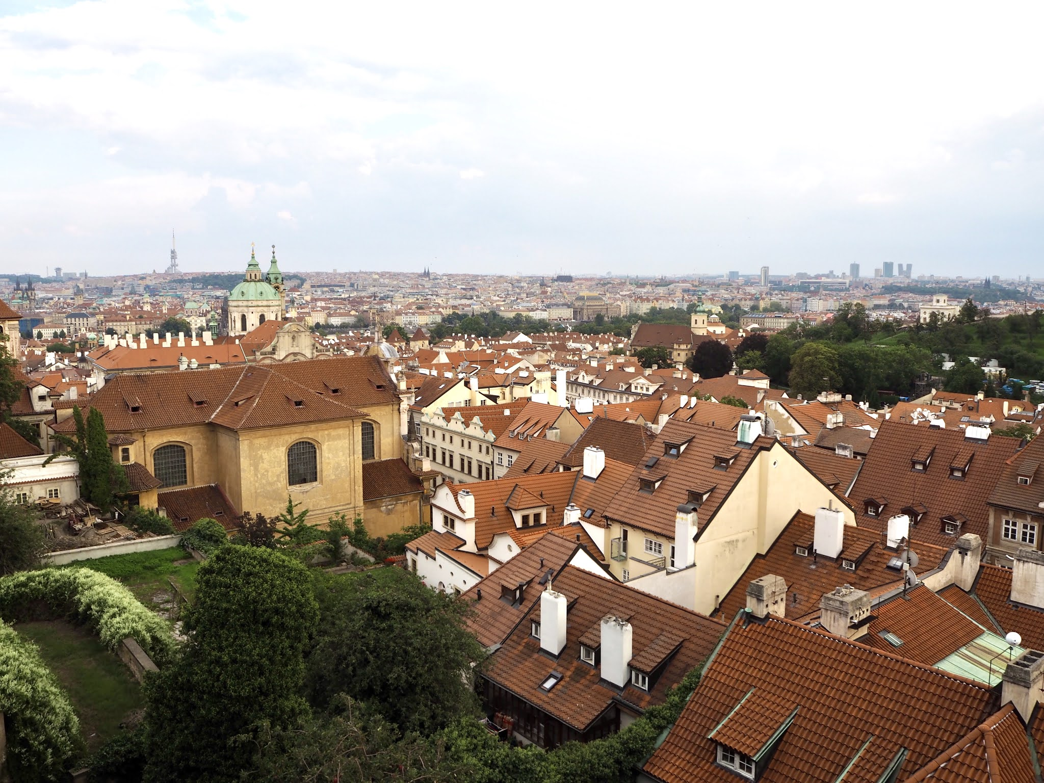 views over prague from the castle