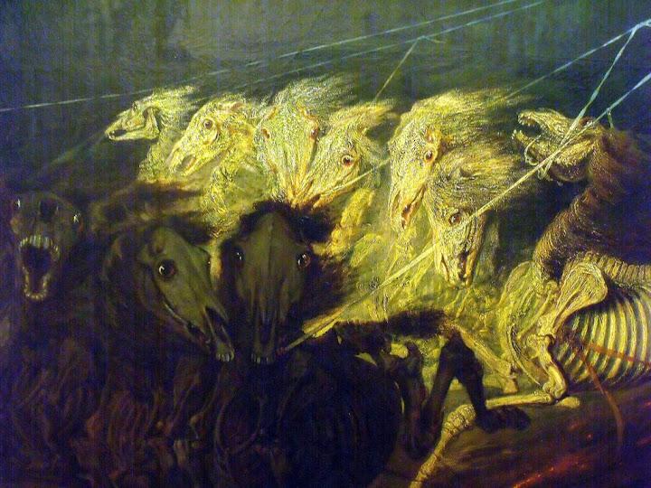 """""""Le Char de la Mort"""" Jean Théophile Schuler (1851, détail)"""