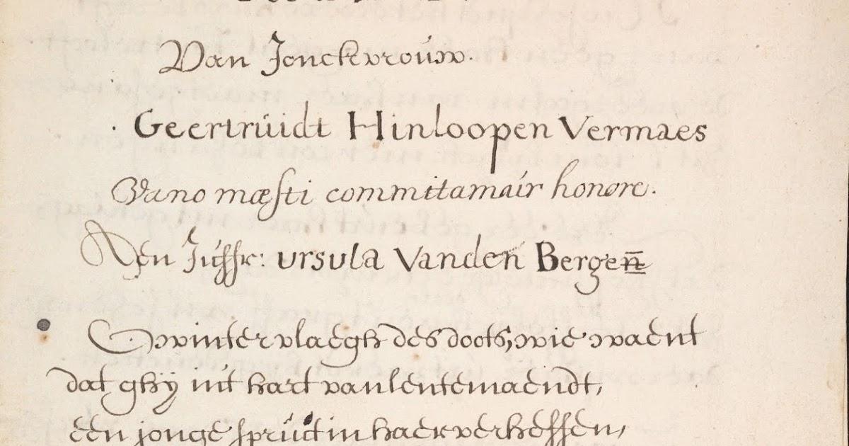 Nieznany Wiersz Niderlandzkiego Szekspira Czyli O Tym Jak